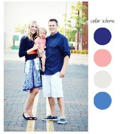 : How to Dress for Family Photos Love the skirt with an i.: How to Dress for Family Photos Love the skirt Family Photography Outfits, Family Portrait Outfits, Family Photo Sessions, Family Portraits, Photography Ideas, Group Photography, Family Color Schemes, Picture Color Schemes, Spring Family Pictures
