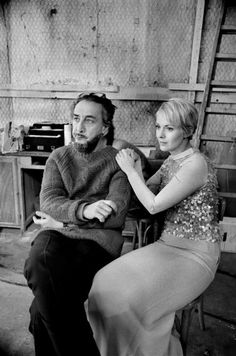 Romain Gary (author, diplomat) and his wife actress Jean Seberg. Gary won the Prix Concourt twice.