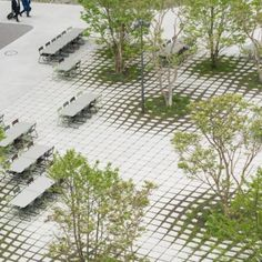 A map of the best contemporary landscape architecture projects from around the world. Landscape And Urbanism, Park Landscape, Landscape Architecture Design, Green Landscape, Plaza Design, Paving Design, Urban Park, Parcs, Contemporary Landscape