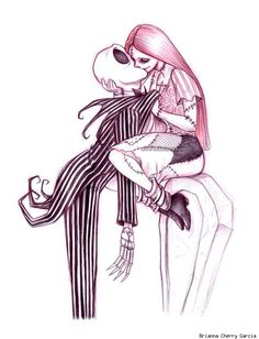 Tim Burton with Jack and Sally from The Nightmare Before Christmas. Arte Disney, Disney Art, Desenhos Tim Burton, Film Anime, Jack And Sally, Geek Art, Disney Love, Urban Art, Native American Indians