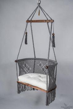 [hammocks and baby hanging chairs in macrame] - hangahammockcollective