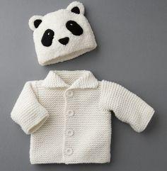 modele tricot bonnet panda