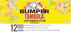 The Corinthians Resort & Club, Pune are proud to announce our Holi Bumper Tambola this Festive season...  It's going to be different. It's going to be unique and still will be the same old fun!