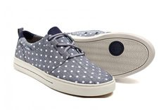 Polka dot canvas sneakers