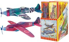 Foam WWII Assorted Glider Airplanes
