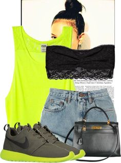 """So Simple. Nike Roshe's."" by dash-of-thug ❤ liked on Polyvore"