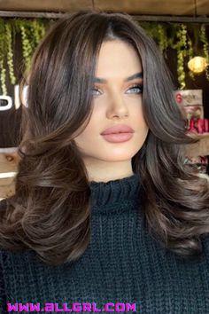Bangs With Medium Hair, Medium Hair Cuts, Long Hair Cuts, Medium Hair Styles, Short Hair Styles, Women Haircuts Long, Haircuts For Long Hair, Hair Color Streaks, Hair Highlights