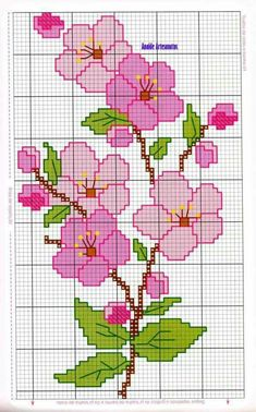 Anaide Ponto Cruz: Beautiful cross stitch graphics for bath towels, leave your c… – Embroidery Cross Stitch Borders, Cross Stitch Rose, Modern Cross Stitch, Cross Stitch Flowers, Cross Stitch Designs, Cross Stitching, Cross Stitch Embroidery, Embroidery Patterns, Cross Stitch Patterns
