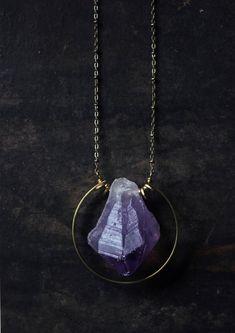 Natural Druzy Black Tourmaline Gemstone Random Wicca Reiki Stone Pendant Jewelry