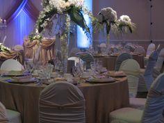 Wedding Decor & Floral Creations  Venue:M.C.C  Missa. Toronto    www.latavoladecor.com