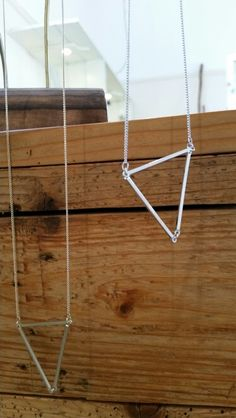 Geometric open triangle necklace