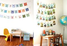 See those adorable flashcards hung on the wall?  I found the set on the right on Amazon and I can't wait to get them on the girls' wall!