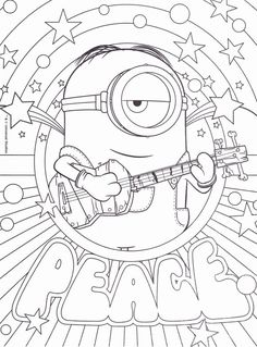 Play Fun Games And Win Goodies Like This Minions Coloring Page Activity