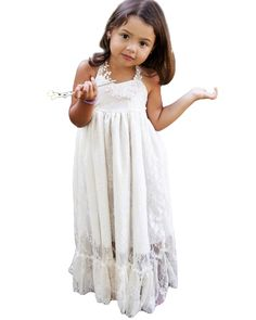Find More Flower Girl Dresses Information about 2016 Beach Destination Wedding  Party Boho Lace Flower Girls 9d261a7fed9e