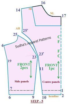 Apparel Patterns: How to make High Neck Saree Blouse? FREE Pattern Apparel Patterns: How to make High Neck Saree Blouse? Dress Sewing Patterns, Clothing Patterns, Skirt Patterns, Coat Patterns, Saree Blouse Patterns, High Neck Saree Blouse, Aya Couture, Pattern Drafting Tutorials, Princess Cut Blouse