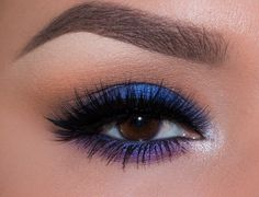 Go boldly into the night with this mysterious blue and purple look by @elymarino! She used Makeup Geek signature eyeshadows in Creme Brûlée, Frappe, Mocha, & Wisteria, foiled eyeshadows in Center Stage, Masquerade, & Whimsical, and gel liner in Immortal. Click through to our website for step-by-step instructions and product details! www.makeupgeek.com