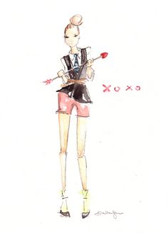 i am so very excited to introduce you to dallas shaw! she is an amazzzzing fashion illustrator for much of the industries top brands. you may recognize one big one – she was the DKNY Pr girl.…