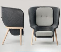 Pod chair | Designer: Benjamin Hubert - http://www.benjaminhubert.co.uk/ More