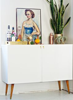 IKEA Hack: Make a Mid-Century Bar Cabinet from a TV Stand | Man Made DIY | Crafts for Men | Keywords: design, diy, how-to, furniture