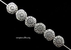 10 Antiqued Tibetan Silver 10mm Sun Flat Round Coin Spacer Accent Metal Beads | Crafts, Beads & Jewelry Making, Beads | eBay!