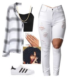 """Outta Line~Jacquees ft. Tink"" by queen-sugah900 ❤ liked on Polyvore featuring adidas Originals, WearAll, Rails and Pori"