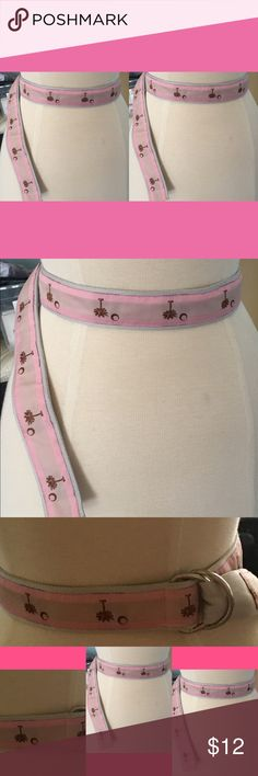 🎄SALE🎄Palmetto Tree pink and gray belt Size small Accessories Belts