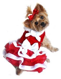 Santa Girl Velvet Dress
