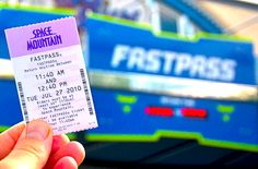 Space Mountain Fastpass.