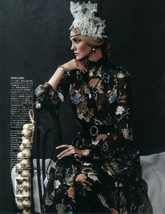 "Caroline Trentini plays ""Caroline's Symphony"" for Vogue Japan October 2015 by Giampaolo Sgura [editorial]"