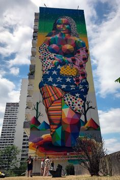 Okuda (2017) - Paris (France) Okuda, Street Art Graffiti, Paris France, Parisian, Mona Lisa, Walls, Street Art, Artists, Wands