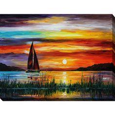 "Picture Perfect International Leonid Afremov 'Florida-Lake Okeechobee' Giclee Print Canvas Wall Art (24 x 36"" x 1.5"")"