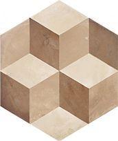 imitation cx ciment grès cérame hexagonal