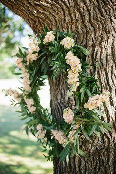 green + pink wreath | Apryl Ann