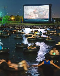 Alamo Drafthouse hosts terrifying on-the-water 'Jaws' screening at Texas Ski Ranch in New Braunfels Alamo Drafthouse Austin, Outdoor Cinema, Outdoor Theatre, Photos Of The Week, Movie Theater, Jurassic Park, Cool Photos, Travel Destinations, Funny Pictures