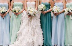 Платья для подружек невесты - одинаковые платья - разные цвета