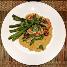 Seafood risotto with scallops shrimp and asparagus. [Homemade] http://ift.tt/2ijdAx7 #TimBeta