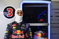 Dan gets ready in the garage in Jerez.