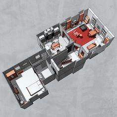 Sherlockology, 221B Baker Street This floor plan looks pretty...