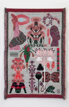 Textile Art: Contemporary Wool  Hypnopompic by Kustaa Saksi