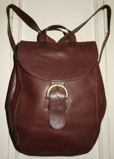 Classic Coach Large Vintage Chocolate Brown Leather Tote Backpack Bag! - $124