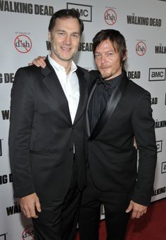 David Morrissey & Norman Reedus, The Walking Dead, Season 3 Premiere
