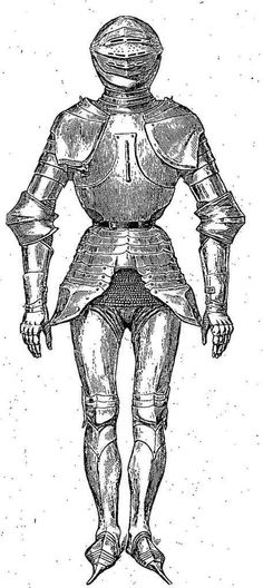 Number Thirteen: French (Milanese style) plate, more mid-15th century than 1420ish though. Not a priority for potential modelers, but, given that we're in a period of intense weapons development, it isn't so anachronistic that it shouldn't be able to serve as rare, very high-end armour.