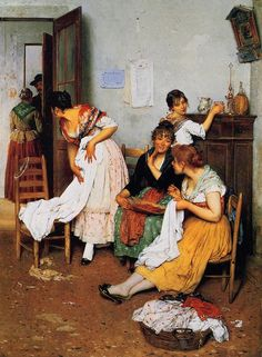 The Athenaeum -  The New Suitor Eugene de Blaas - 1888 Private collection Painting - oil on canvas