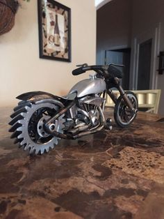 Scrap metal art motorcycle4