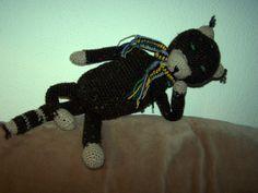 """Das ist mein """"Katzenbär"""", nach der Anleitung für ein """"Amineko"""" gehäkelt."""