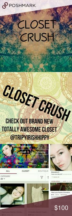 ⚡🖤⚡closet crush⚡🖤⚡ Check out my Posh BFF @rewindclothes 🍄 Her closet is full of beautiful photos, great deals & even more, she is the funniest, sweetest posher in the world & truly a kind, beautiful spirit!   Follow, like, share & support! closet crush Other