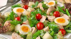 Egg- og kyllingsalat