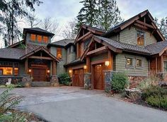 4 Bedroom Rustic Retreat Plan Photo Gallery, Luxury, Mountain, Premium Collection, Craftsman House Plans Home Designs Cabin Homes, Log Homes, Exterior House Colors, Exterior Design, Rustic Exterior, Siding Colors, Modern Exterior, Craftsman House Plans, Modern Craftsman