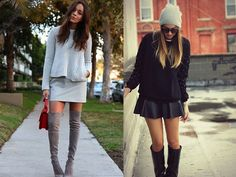 Grey suede boots via Ring my Bell // www.bumpkinbetty.com // #fashion #inspiration #streetstyle