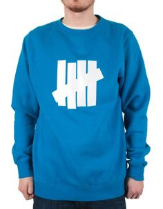 c98280dc0d2cd Buy 5 Strike Pullover Crew - Royal by Undefeated from our Clothing range -  Blues